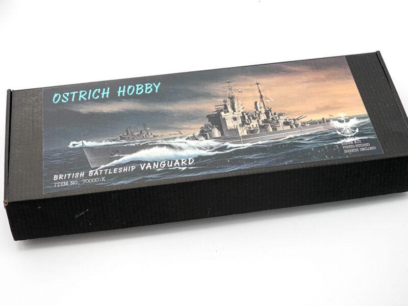 オストリッチホビー/ダチョウホビー 1/700 イギリス戦艦ヴァンガードのレジンキットのパッケージ