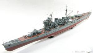 アオシマ 1/350 日本海軍 妙高型重巡洋艦 足柄 プラモデル ディテールアップ完成品