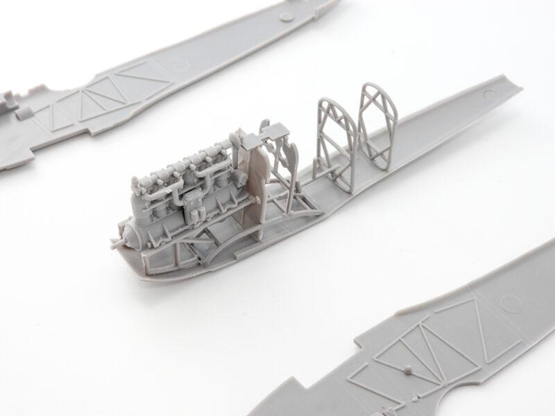 ローデン 1/48 ユンカースD1 プラモデル エンジン