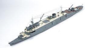アオシマ 1/700 日本海軍潜水母艦大鯨 プラモデル ディテールアップ完成品