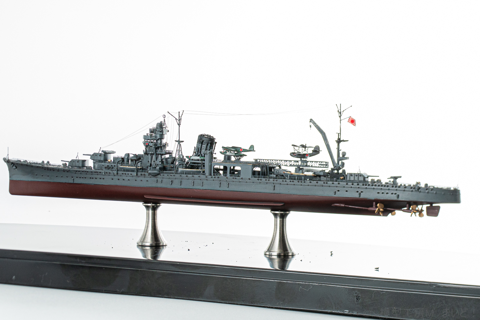 フジミ 1/700 日本海軍軽巡洋艦 阿賀野 プラモデル 完成品