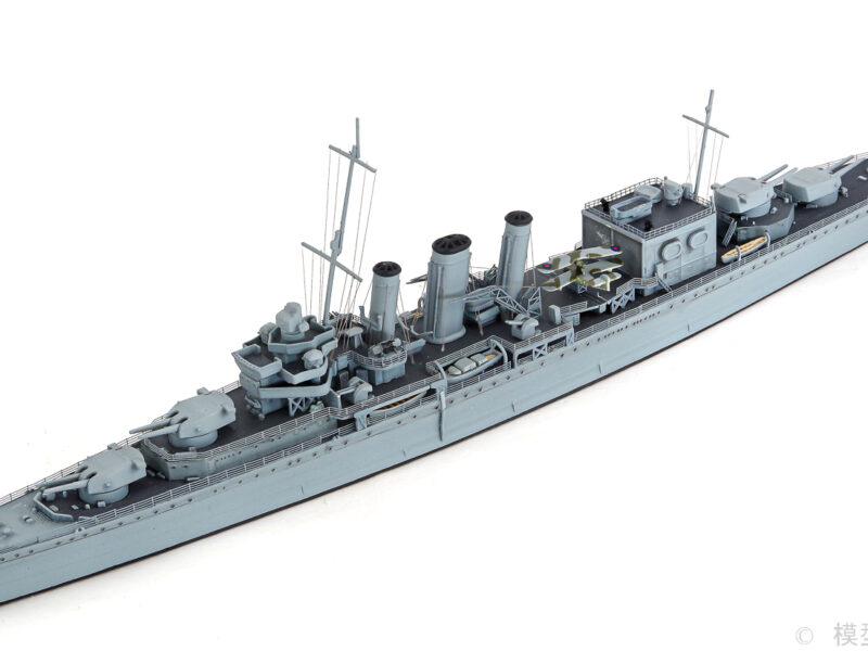 アオシマ 1/700 イギリス海軍重巡洋艦 コーンウォール プラモデル 完成品