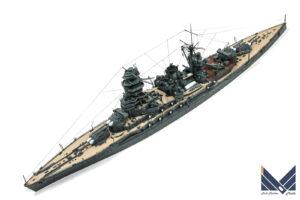 フジミ 1/700 日本海軍戦艦長門 プラモデル 完成品