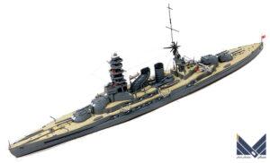 アオシマ 1/700 日本海軍戦艦長門1927 屈曲煙突 プラモデル 完成品