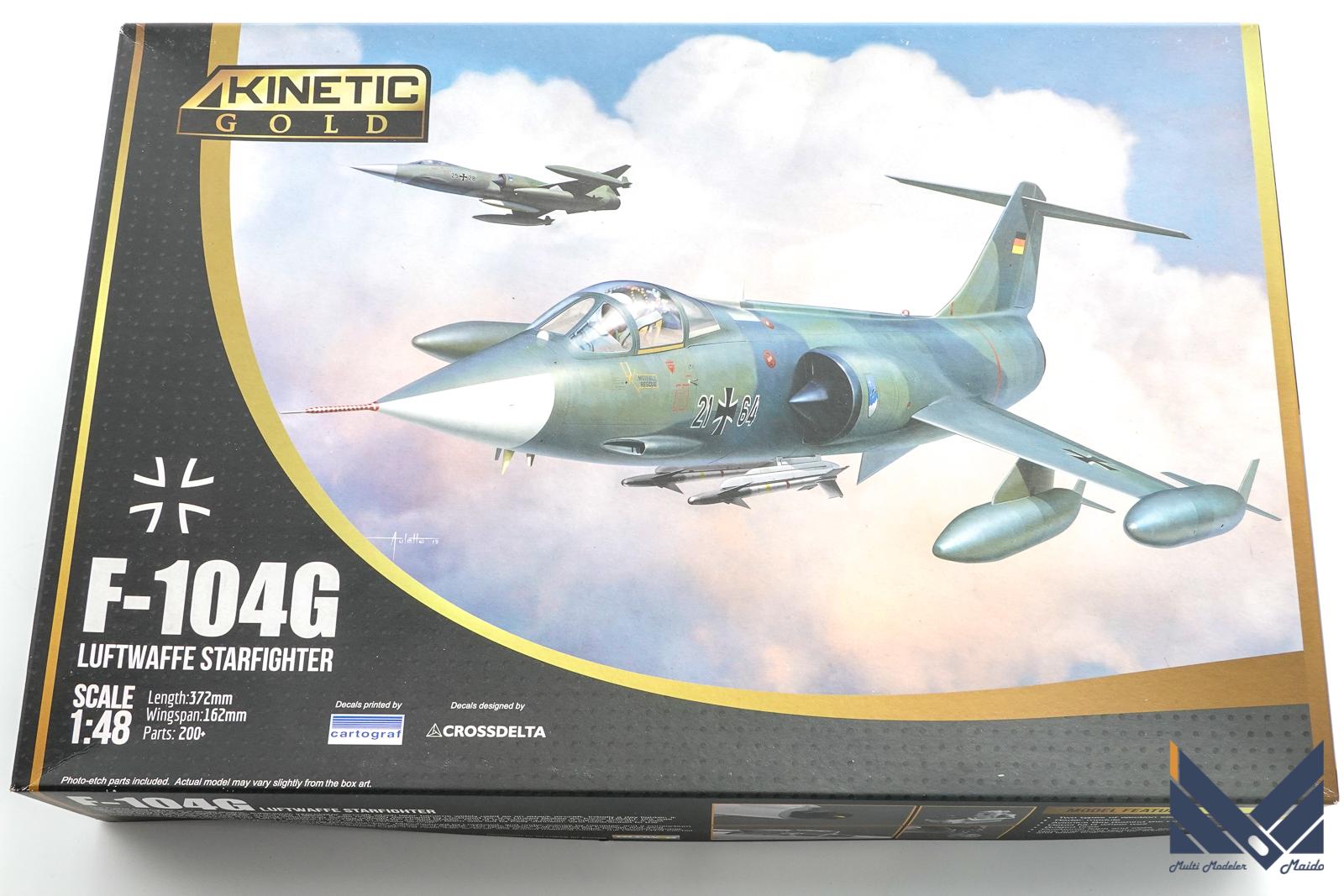 キネティック 1/48 F-104G プラモデルキット紹介