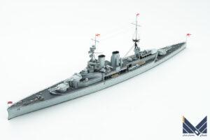 ポセイドンモデル 1/700 イギリス巡洋戦艦レナウン レジンキット改造 1920  お召艦 完成品